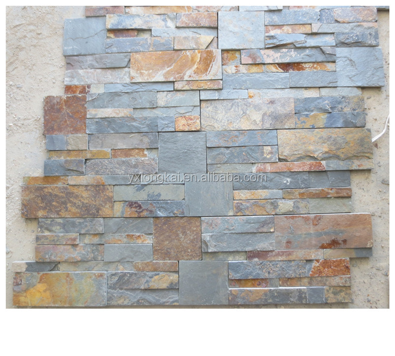 wholesale wall paneling slate cultured natural rustic stone cladding