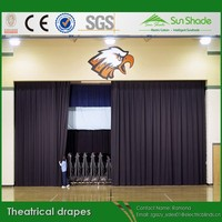 Custom made Fireproof Theatrical Drapes /Theatrical Curtains for sales