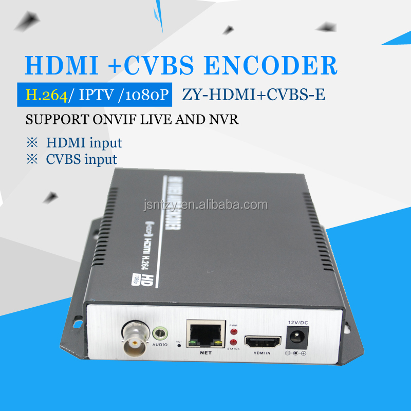H.264 HD CVBS and HDMI to ip ENCODER video encoder, support http rtmp rtsp hls udp onvif
