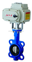 Electric cast iron centerline wafer type butterfly valve