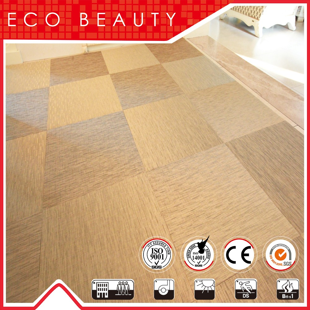 Direct Factory Low Price High Quality Woven Vinyl Pvc Flooring Tile