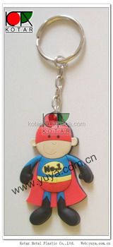 Customized 3D superman keychain