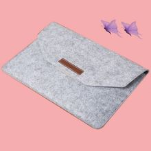 Top quality zipper closure PC felt material leather case for macbook air 11.6 laptop