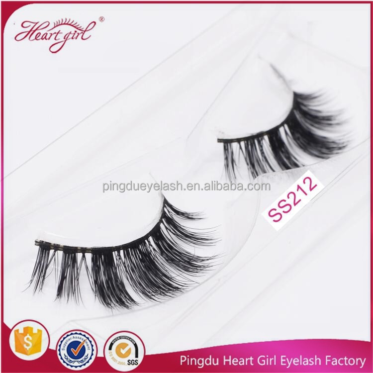 artificial eyebrow 100% real siberian mink fur strip false eyelashes