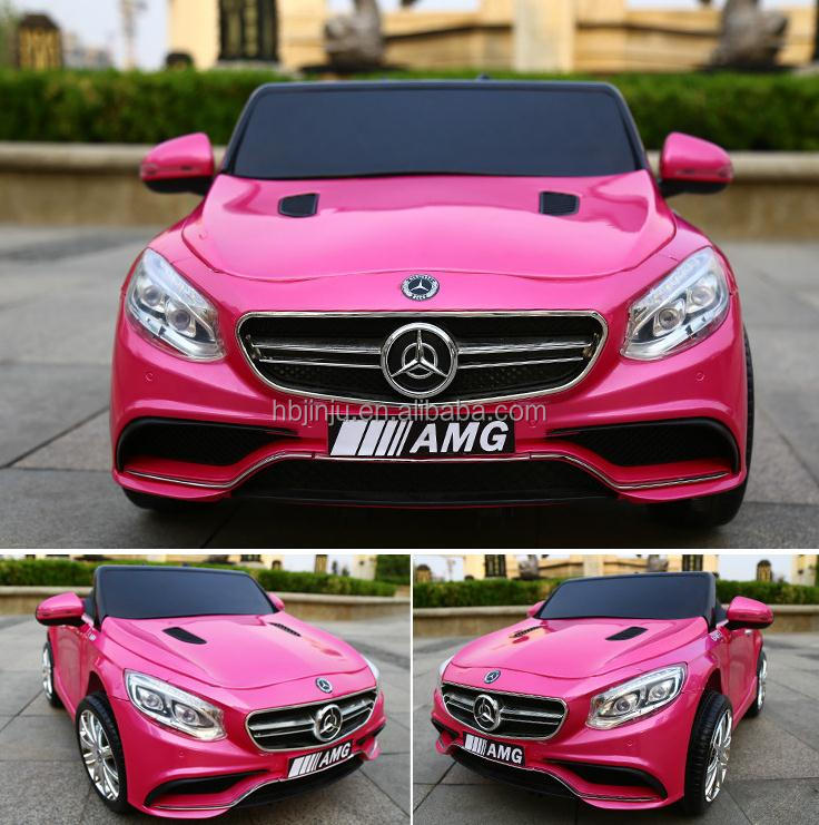 pink licensed mercedes benz glk300 electric ride on toy car