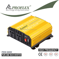 PROFLEX 12V or 24V 300W peak power 600W High Frequency Pure Sine Wave Car Power Inverter