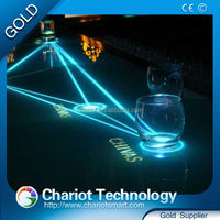 On Sale ! High quality Chariot glass 2meter interactive bar