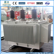 Power usage three phase 11kv 22kv oil immersed transformer 1000kVA