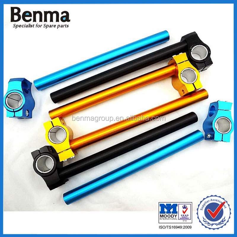 Motorcycle CNC aluminium handle grip seperate handlebar grip motorcycle clips on handlebar
