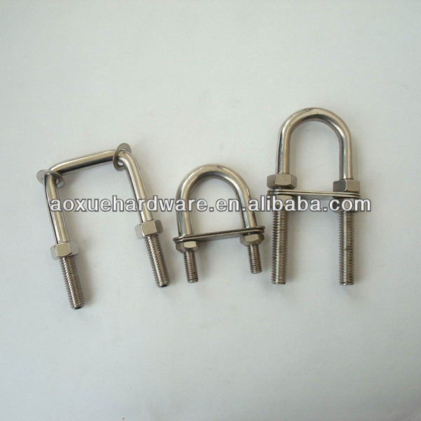 stainless steel U bolt clips with nuts