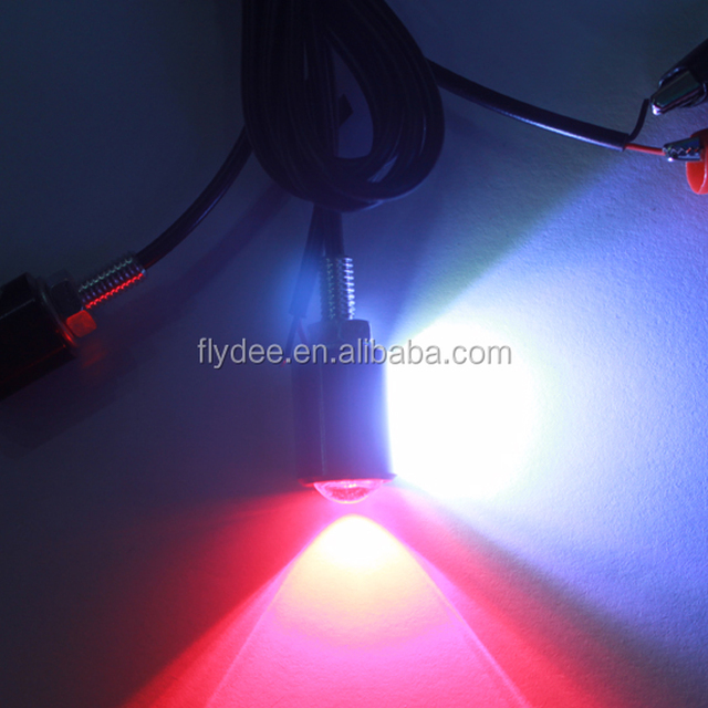 Car high power 6W led license plate lamp white/red dual color eagle eye