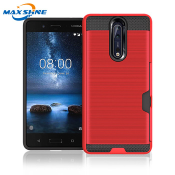 Maxshine newest style hybrid smart phone case 8 for nokia manufacturer, phone cover for nokia 8 case
