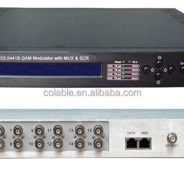 digital headend equipments ,integrated qam modulator with multiplexer,scrambler,cheap solution for cable tv system COL5441B