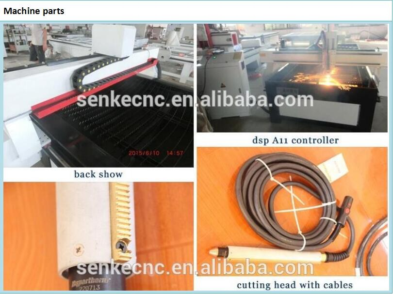 Start control Copper ,carbon steel metal plates cutting machine plasma cnc with cheap price