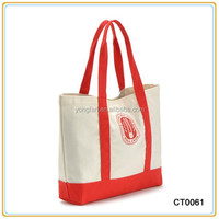 Standard Size Long Handle Cotton Canvas Tote Bag Canvas Shoulder Bag