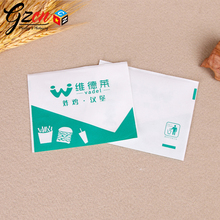 food grade with logo grease proofing paper packing fried chicken hamburger kraft bag