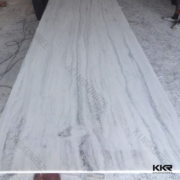 Man made marble stone acrylic solid surface slabs
