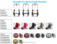 accessaries baby pram manufacturer producing high end 3 in 1 buggy with new design pushchair w/ big wheels swivel wheels