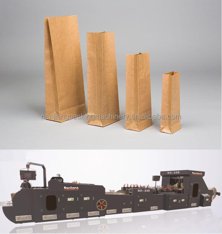 Manual kraft paper bag making machine
