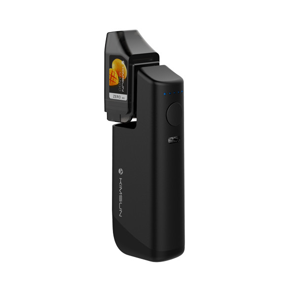 KIMSUN SLIM 2 Box Mod Vape Kit with a 2ml disposable cartridge and 1100mAh battery mod