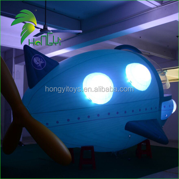 Hongyi Inflatable RC Helium Airship with led lighting for Advertising