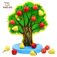 christmas gift ideas for friends hot new products for kids wood learning fake apple tree oem educational magnetic toy