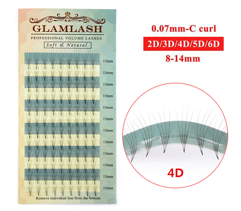GLAMLASH Wholesale 2 <strong>D</strong> To <strong>10</strong> <strong>D</strong> Russian Volume Eyelash Lashes Cluster Extensions premade fan lash