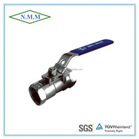 1000PSI Stainless Steel 1PC Ball Valve, Reduced Bore, Threaded Ends, 1000WOG