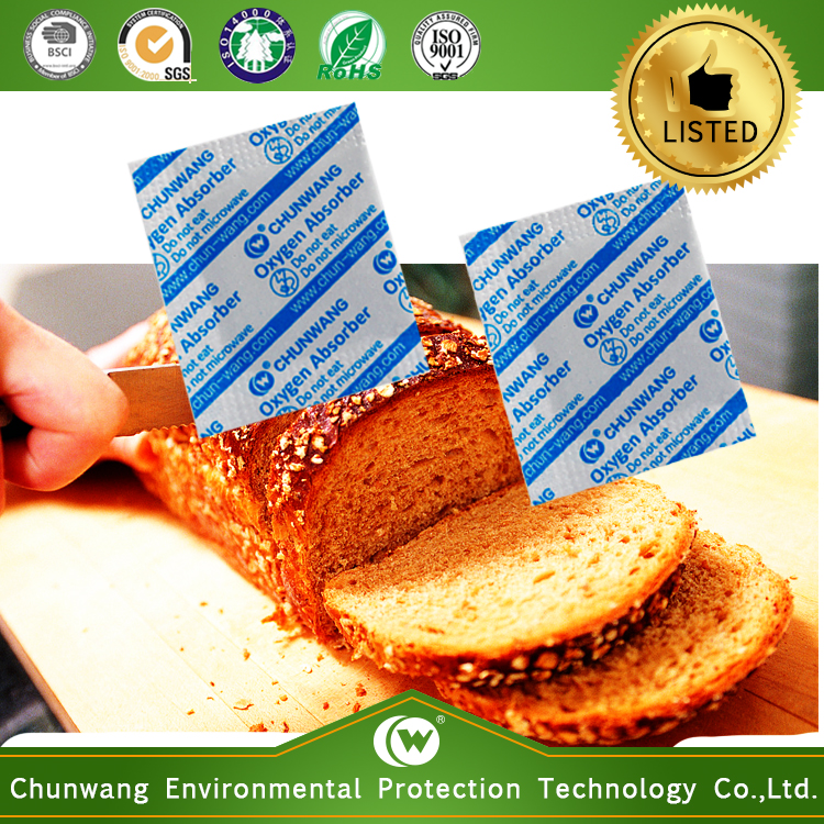 Food Grade Qualified Oxygen Absorber for Breads Long Term Storage