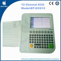 China BT-ECG12 Hospital medical portable 12 Channel ECG machine, Touch Screen ecg machine with print