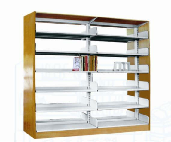 Double Pillars steel bookshelf ,metal storage bookshelf
