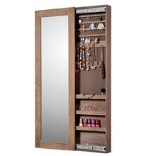 deft design mirrored jewelry organization cabinet armoire