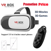 2016 vr headset Virtual Reality 3D VR BOX 2.0 with Bluetooth Remote Controller
