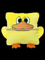 Big yellow animal kids toy stuffed plush squared shaped duck pillow toy for different ages people