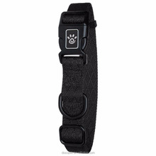 New design protective pet adjustable wholesale nylon dog collar Large Black
