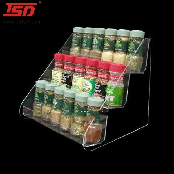 clear acrylic table top display,spice display rack,plexiglass display stand