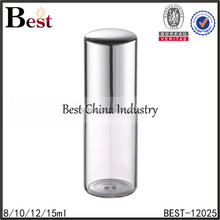 wholesale 8ml 10ml 12ml 15ml silver aluminum cover roll on fragrance perfume bottle cosmetic clear empty bottle of perfume