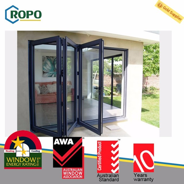Professional manufacture cheap internal glass bi folding doors