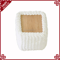 SD household recyclable white storage basket made of paper