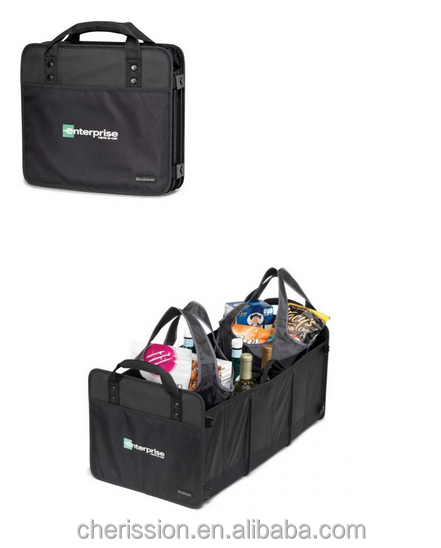 folding car trunk bag organizer with totes