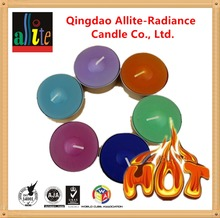 Allite mutil-color birthday marble white scented tealight tea light candle jars