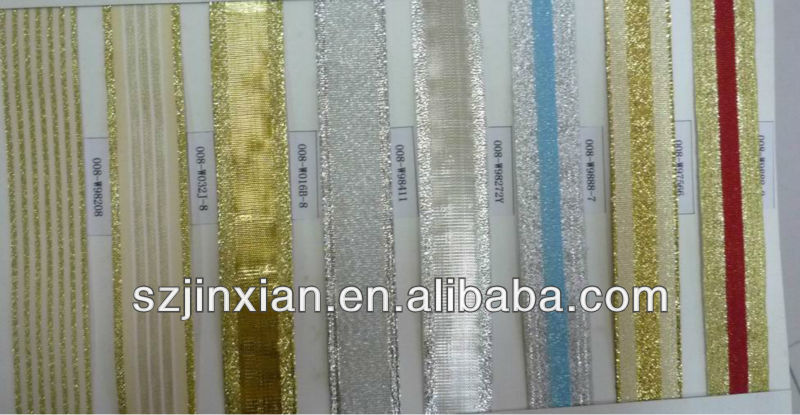 25mm golden and silver christmas ribbon