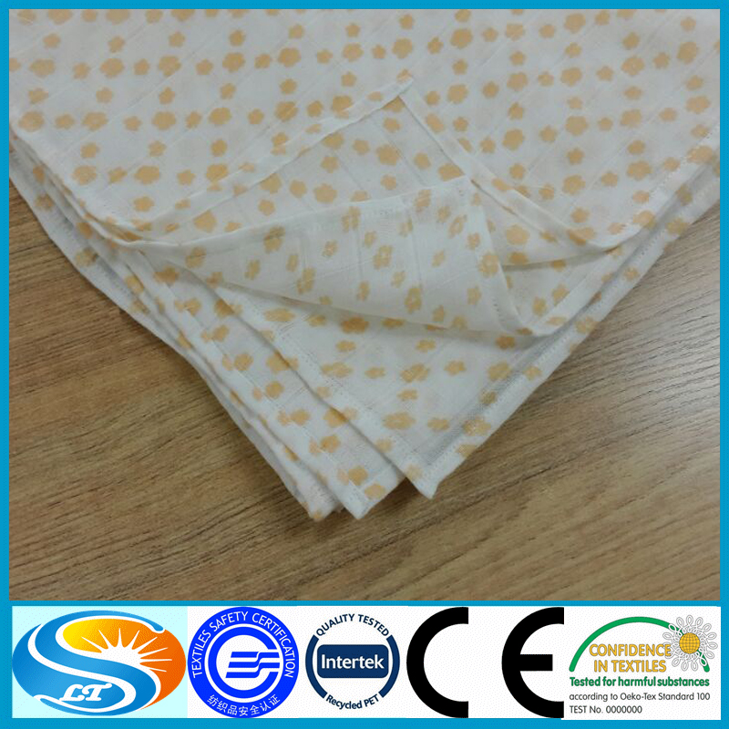 Wholesale custom print 100 organic cotton muslin fabric for Cheap baby fabric