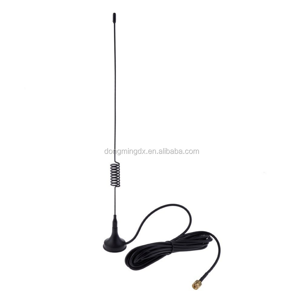SMA 10feet3m 900-1800MHz Suction Cup GSM Antenna for Cars Trucks Boat 5dBi in Black