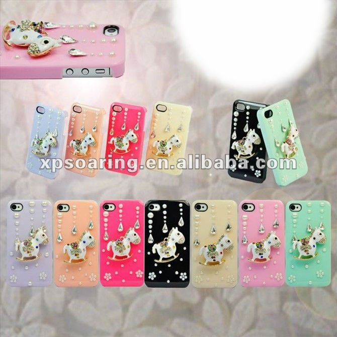 merrygoround diamond case skin cover for iphone 4G 4S