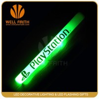 High quality LED color changing foam glow sticks,logo printing LED flashing foam sticks,concert cheering LED foam batons