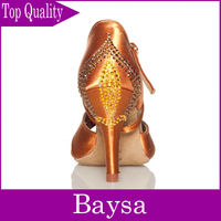 Crystal dance shoes salsa latin DANCE SHOES BL333