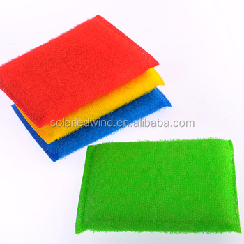 PE Kitchen Cleaning Dish Washing Scouring Pad With Sponge