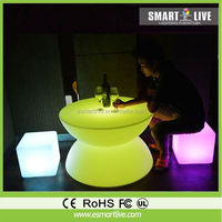 LED plastic RGB light up magic modern apple chairs Colorful Bar Stool