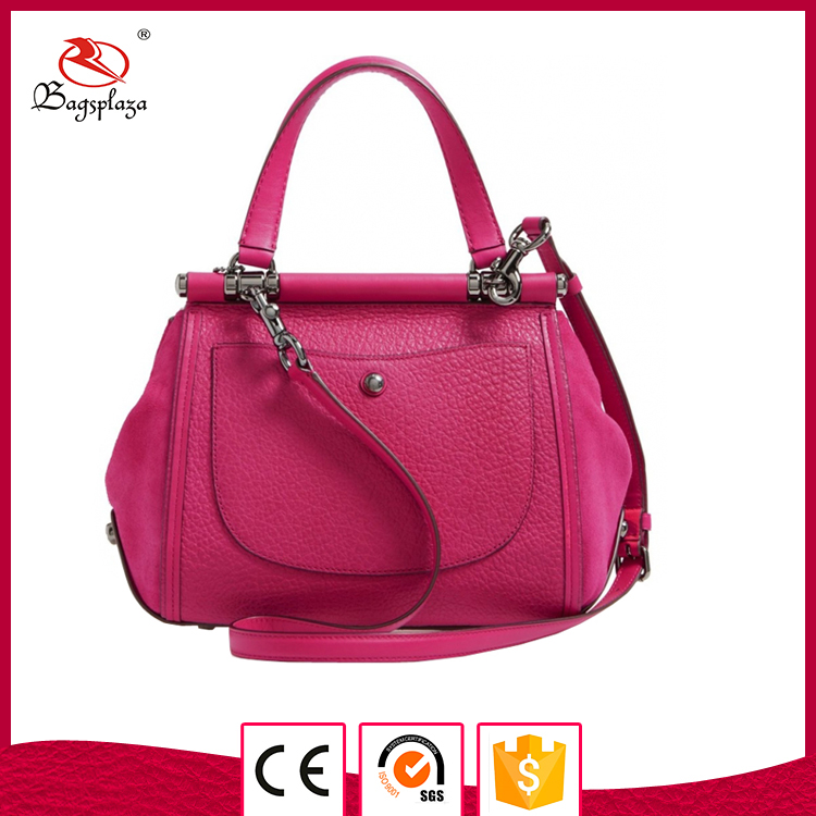 Alibaba china supplier women bag french handbags brands in rose red